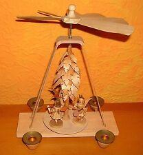 Weihnachtspyramide Erzgebirge Blank Kurzrock Engel 27 cm Engel Holz