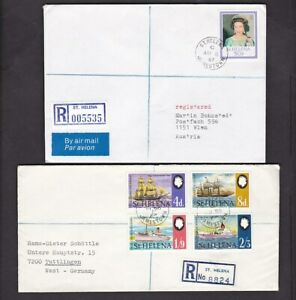 Ascension St Helena collection small lot registered mail covers x8 1969-87