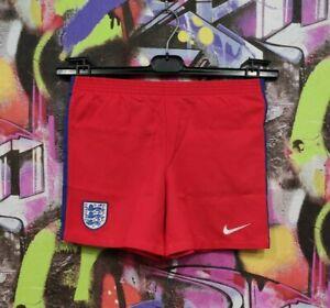 England National Football Team Soccer Training Shorts Nike Boys XL 7-8 Years
