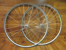VINTAGE MAVIC MACH 2 32H TNT ULTIMATE TITANIUM 10 SPEED 700C TUBULAR WHEEL SET