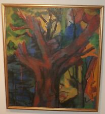 Expressionist Trees Modernist Landscape-Fauvist-1955-August Mosca