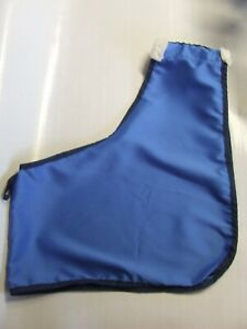 Ecotak Satin Horse Bib/Shoulder Guard with wither fleece- Royal Blue/navy Ecotak