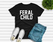 Feral Niños Niños Camiseta-Regalo Divertido-Top Niños Vacaciones Escolares comportamiento