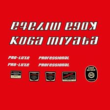 Koga Miyata Pro-Luxe Bicycle Decals, Transfers, Stickers n.300