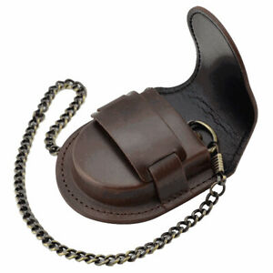New Pocket Watch Leather Case Pouch Storage Holder Box Bag Belt Attachment SY