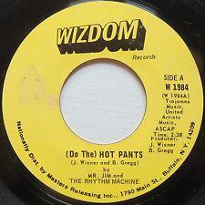 MR JIM and RHYTHM MACHINE: (DO THE) HOT PANTS rare WIZDOM funk 45 HEAR IT