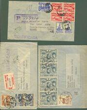 PERU'. 1950/53. Tre aeregramma per l'Italia. Buona qualità.