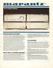 Marantz MA-24, MA-22, SC-22, PH-22 Amplifier Brochure