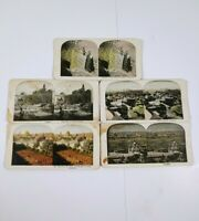 Antique Stereoview Cards Of Jerusalem Lot Of 5 Sepia