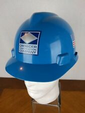 VTG Crowder Construction Hard Hat Cap Helmet Safety Mine Duke Energy MSA V Gard