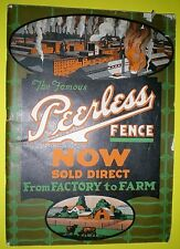 1922 PEERLESS FENCE CATALOG ~ PAINT, ROOFING, SHINGLES, BARBED WIRE