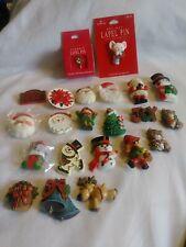 Lot Of 22 Vintage Hallmark Christmas Brooch Pins