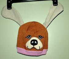 EC LITTLE BROWNIE BAKERS GIRLS BROWN DOG/PUPPY HAT BEANIE w/FLOPPY EARS