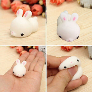Mochi Lovely Cute Rabbit Squishy Squeeze Healing Stress Reliever Toy Gift Decor