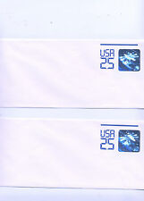 2 - USA 25 Cent Space Station 3-D Hologram Stamp Envelope,1989, mint