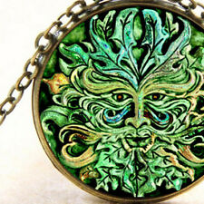 New Treeman Green Man Oak, Spirit Pendant Necklace, Ancient Origins Pagan Wiccan