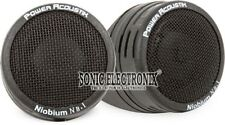 "Power Acoustik Nb-1 1"" Surface Angle Micro Dome Tweeters Niobium Magnets 200 Wat"