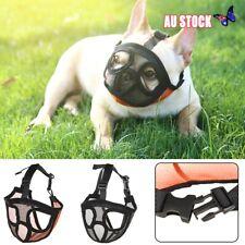 Short Snout Dog Muzzle- Adjustable Breathable Mesh Bulldog Muzzle for Dog