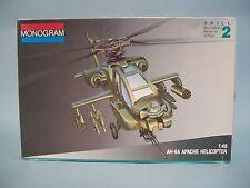 AH-64 Apache Helicopter Monogram Model Kit #5443 CIB Vintage