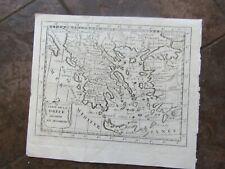 1768 Original Map of Greece