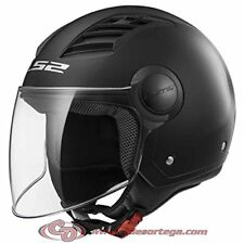 Casco Ls2 Jet Of562 Airflow L Solid Nero Matto XXL termoplastica