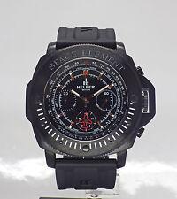 HELFER Spacetimer Chronograph Quartz date Black PVD Men's Watch SE001S