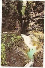 MINNEHAHA FALLS CAVERN CASCADE Watkins Glen State Park NY Postcard Finger Lakes