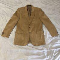 Vintage CCC Western Wear Blazer Camel Tan Size 42 Jacket Sports Coat Cowboy