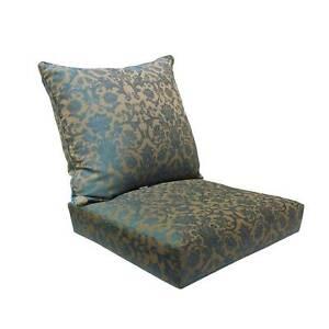 Affair Deep Seat Sofa Cushion Set Bossima - Blue Damask