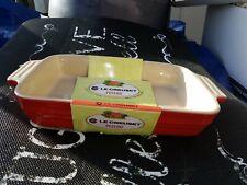 "Le Creuset Poterie Stoneware 10.5"" / 26 cm Rectangular Baking Dish Red"