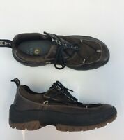 Ulu Men's Brown Leather Suede Lace Up AM-06 Athletic Hiking Shoes Sz 12