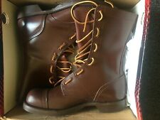 """Corcora Historical WWII jump boots 8EEE paratrooper brown 10"""" cap toe"""