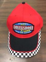 2017 Cruisin Endless Summer car show hat red with black checker Ocean City MD