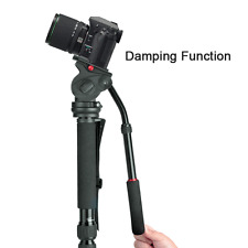 Professional heavy duty photo caméra vidéo monopode support kit, pan & tilt head