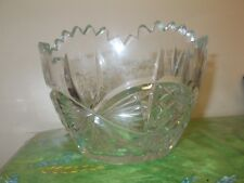 Vintage Crystal Large Deep Dessert Bowl  Round 21cm Scandinavian VGC