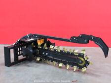Greatbear 1000/200 Trencher Hydraulic Skid Steer Digging Attachment bidadoo -New