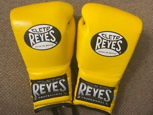 Cleto Reyes YELLOW leather 14oz sparring gloves