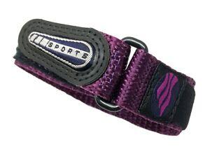 Timex 12-16mm Purple & Black Nylon Hook & Loop Fastwrap Performance watch strap
