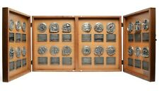 Raccolta 24 Medaglie HISTORY OF AMERICA Medals collection in large box display