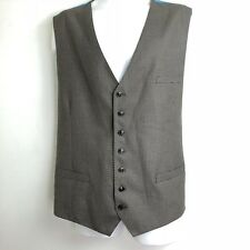 luciano natazzi mens Size 52 L brown plaid Houndstooth vest