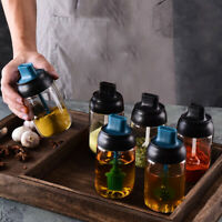 Glass Spice Jars Seasonning Box Condiment Jar With Lid Spoon Kitchen Salt Bottle