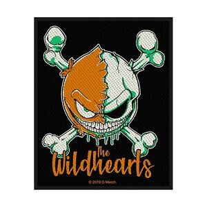 """THE WILDHEARTS - """"GREEN SKULL"""" - WOVEN SEW ON PATCH"""
