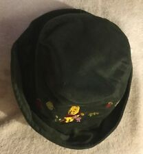 Disney Store Green Corduroy Winnie The Pooh Embossed 12-24 mos Baby Hat Cap NEW
