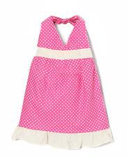 New Little Girls Pink Polka Dot Halter Dress Summer Casual Dresses Kids Toddler