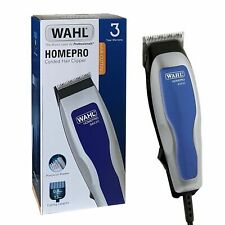 Wahl Mains Powered Hair Clipper With 4 Guide Combs Home Hair Cutting Kit