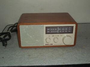 Sangean WR-11 Tabletop FM/AM Analog Wooden Cabinet Radio Receiver Works NiceL@@K