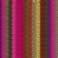 NORO ::Kureyon #374:: wool knitting yarn Fuchsia-Browns-Pea-Green-Purple