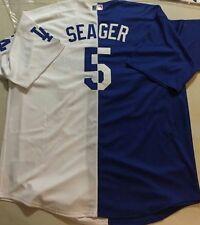 Corey Seager Custom Los Angeles Dodgers Split Jersey (Youth Medium)  Free Gift