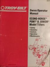 Troy-Bilt Pony Roto Tiller Owners & Parts (2 Manual s) Garden-Way 1991 Composter