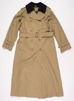 Classic Burberry Cotton Belted Wool Collar Trench Coat Size 38 - 40 / Medium